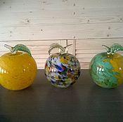 Для дома и интерьера ручной работы. Ярмарка Мастеров - ручная работа Большие яблоки.Гутное стекло.Пенза.. Handmade.