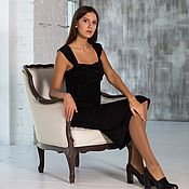 Одежда handmade. Livemaster - original item A copy of the Evening knitted dress in wide straps. Handmade.