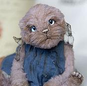 Куклы и игрушки ручной работы. Ярмарка Мастеров - ручная работа Котенок тедди Мия. Handmade.