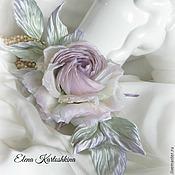 "Свадебный салон ручной работы. Ярмарка Мастеров - ручная работа Роза из шёлка ""Mademoiselle"" ЦВЕТЫ ИЗ ШЕЛКА. Handmade."