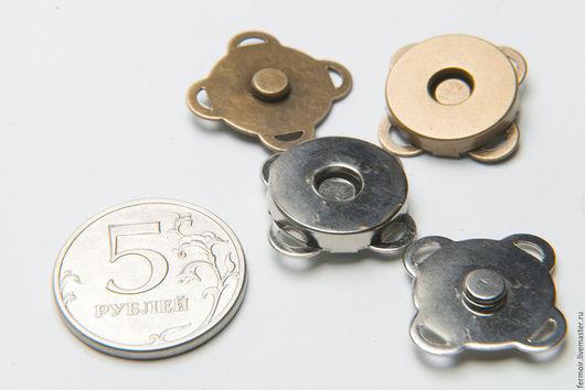 Шитье ручной работы. Ярмарка Мастеров - ручная работа. Купить Кнопка магнитная 18 мм, пришивная. Handmade. Серебряный