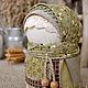 Народные куклы ручной работы. Ярмарка Мастеров - ручная работа. Купить народная кукла-оберег КРУПЕНИЧКА. Handmade. Оливковый
