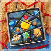 handmade. Livemaster - original item Gingerbread space puzzle mosaic. Handmade.