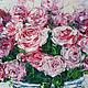 Картины цветов ручной работы. Цветы любви. K&ART. Интернет-магазин Ярмарка Мастеров. Брусничный, картина в интерьер, спальня