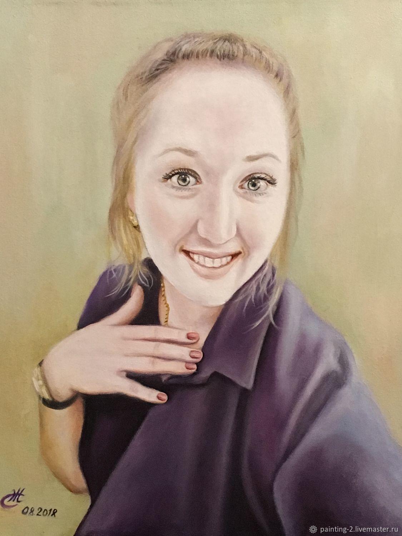 Портрет молодой девушки, Картины, Югорск,  Фото №1