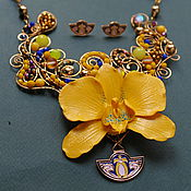 Украшения handmade. Livemaster - original item Necklace Gold July. Handmade.