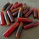 Для украшений ручной работы. Ярмарка Мастеров - ручная работа. Купить Бусина Red Pipe из Рога Буйвола, 7х25мм (1шт). Handmade.