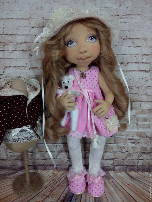 Коллекционные куклы ручной работы. Ярмарка Мастеров - ручная работа. Купить Авторская интерьерная кукла.. Handmade. Розовый, кукла авторская