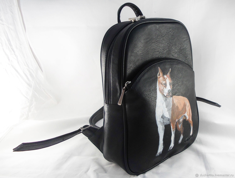 Backpacks handmade. Womens designer backpack from a genuine print Portrait  Darling. BelkaStyle. My Backpacks handmade. f5a45d91843c2