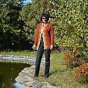 Одежда ручной работы. Ярмарка Мастеров - ручная работа Жакет вязаный спицами из мериноса Осений калейдоскоп. Handmade.