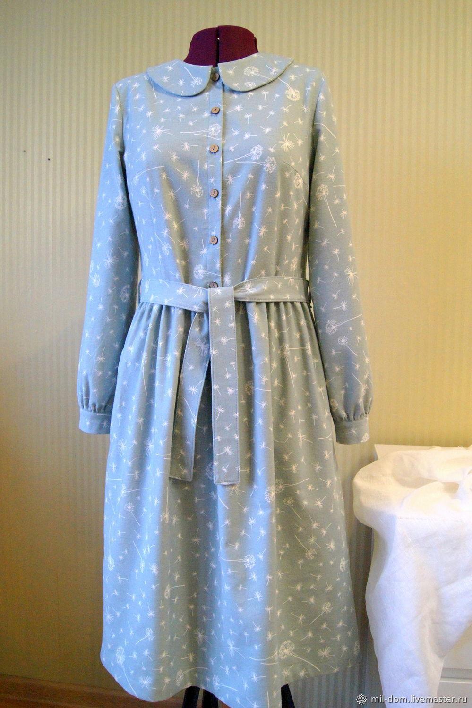 Платье из теплого хлопка Одуванчиковый ветер платье из фланели, Платья, Псков,  Фото №1