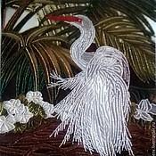 """Картины и панно ручной работы. Ярмарка Мастеров - ручная работа картина """"Цапля"""". Handmade."""