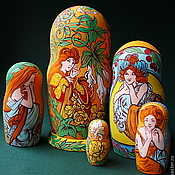 Русский стиль handmade. Livemaster - original item Matryoshka Images Spring. Handmade.