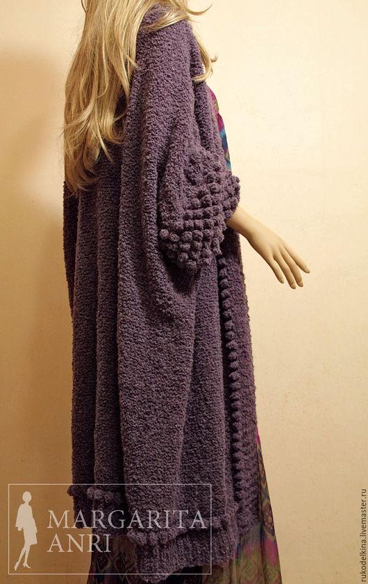 Кофты и свитера ручной работы. Ярмарка Мастеров - ручная работа. Купить Вязаный кардиган Purple Bubble. Handmade. Кардиган