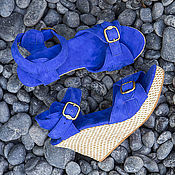 Обувь ручной работы handmade. Livemaster - original item Shoes genuine suede Jess. Handmade.