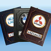 Сувениры и подарки handmade. Livemaster - original item HIT! Premium covers for Auto Documents. Handmade.