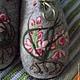 """Обувь ручной работы. Заказать Тапочки """"Орхидейки"""". Семейная мастерская Сергеевых. Ярмарка Мастеров. Тапочки ручной работы, тапочки для девочки"""