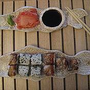 """Посуда ручной работы. Ярмарка Мастеров - ручная работа Набор для суши """"Рыбы"""". Handmade."""