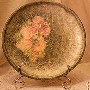 """Для дома и интерьера ручной работы. Ярмарка Мастеров - ручная работа Тарелка """"Розы"""". Handmade."""