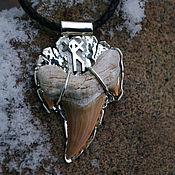 Украшения handmade. Livemaster - original item Runic amulet from a tooth fossil sharks.. Handmade.