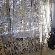 Винтаж ручной работы. Ярмарка Мастеров - ручная работа Антикварное коклюшечное полотно, Франция 1900г.. Handmade.