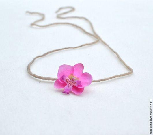 Детская бижутерия ручной работы. Ярмарка Мастеров - ручная работа. Купить Повязка на голову для фотосессий Розовый тропический цветок. Handmade.