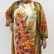 """Одежда ручной работы. Ярмарка Мастеров - ручная работа Комплект """"Осень розовая"""" для пышных  дам. Handmade."""