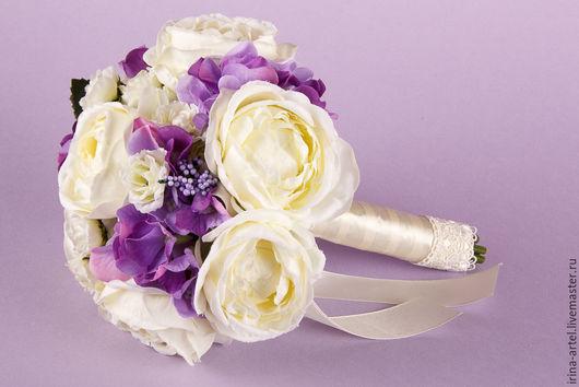 Свадебные цветы ручной работы. Ярмарка Мастеров - ручная работа. Купить Букет-дублер для невесты. Handmade. Кремовый, букет для невесты