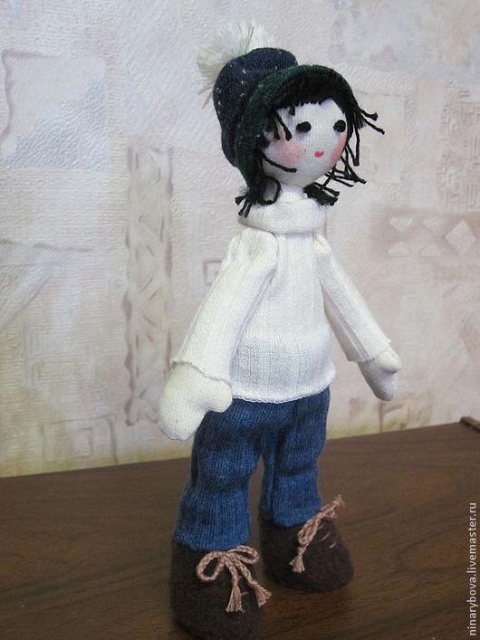 Человечки ручной работы. Ярмарка Мастеров - ручная работа. Купить кукла Лариса лыжница. Handmade. Авторская ручная работа