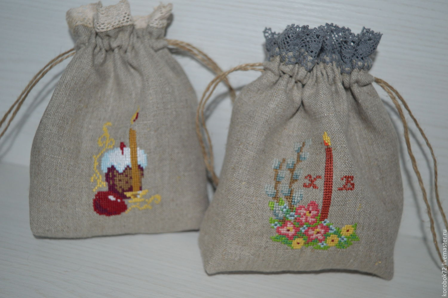 Linen sachets easter shop online on livemaster with shipping easter comfortable gifts online shopping on my negle Images