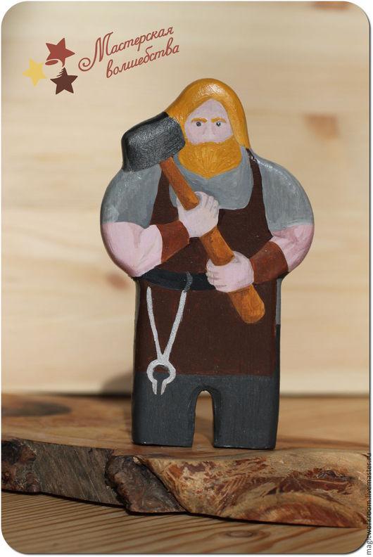 Вальдорфская игрушка ручной работы. Ярмарка Мастеров - ручная работа. Купить Кузнец. Handmade. Комбинированный, кукла, деревянная кукла