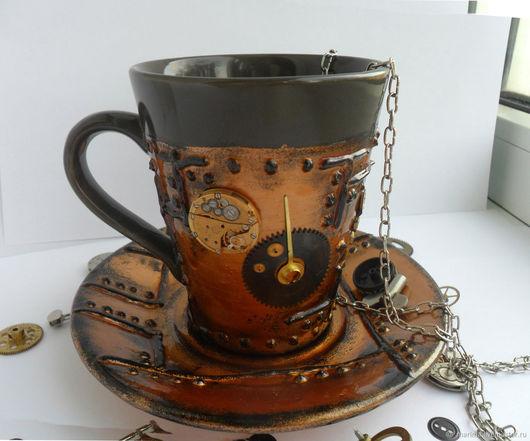 Персональные подарки ручной работы. Ярмарка Мастеров - ручная работа. Купить Кружка в стиле steampunk 1 ( стимпанк ). Handmade.