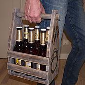 """Сувениры и подарки ручной работы. Ярмарка Мастеров - ручная работа Ящик под пиво """"BEAR"""". Handmade."""