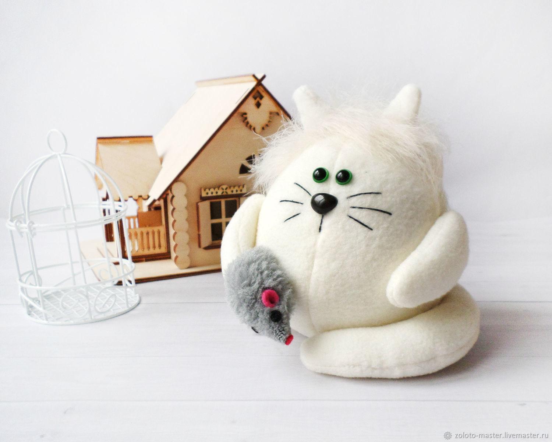 """Мягкий котик  """"""""Пломбирчик"""" Кот домовой, Stuffed Toys, Chaikovsky,  Фото №1"""