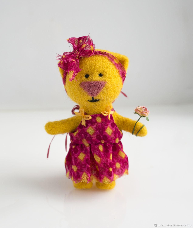 Felted kitty Katushka from the series 'Kotovskii', Felted Toy, Sevastopol,  Фото №1