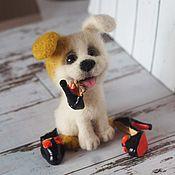 Подарки к праздникам handmade. Livemaster - original item dog loyal and new louboutins. felted toy made of wool. Handmade.