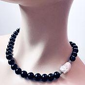 Украшения handmade. Livemaster - original item Necklace with Cheryl and Baroque pearls. Handmade.