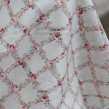 """Материалы для творчества ручной работы. Ярмарка Мастеров - ручная работа Ткань хлопок """"Розы №350"""" .Ткань розы шебби-шик. Handmade."""