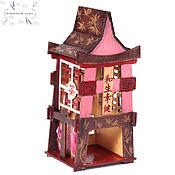 Для дома и интерьера ручной работы. Ярмарка Мастеров - ручная работа Чайный домик Japan Японская роза. Handmade.