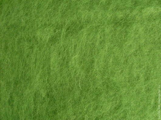 Валяние ручной работы. Ярмарка Мастеров - ручная работа. Купить Шерсть для валяния кардочес, 27 мкр, Light green. Handmade.