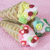 Куклы и игрушки ручной работы. Ярмарка Мастеров - ручная работа Мороженое (кулинарная миниатюра из полимерной глины). Handmade.