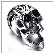 Украшения handmade. Livemaster - original item Skull pendant No. 1 stainless steel. Handmade.