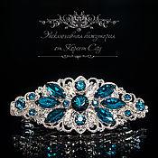 Брошь-булавка ручной работы. Ярмарка Мастеров - ручная работа Заколка  «Ледяной цветок» в стиле барокко серебристый цвет. Handmade.