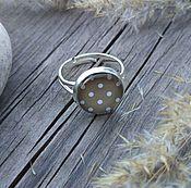 Украшения handmade. Livemaster - original item The silver-plated Polka dot ring. Handmade.