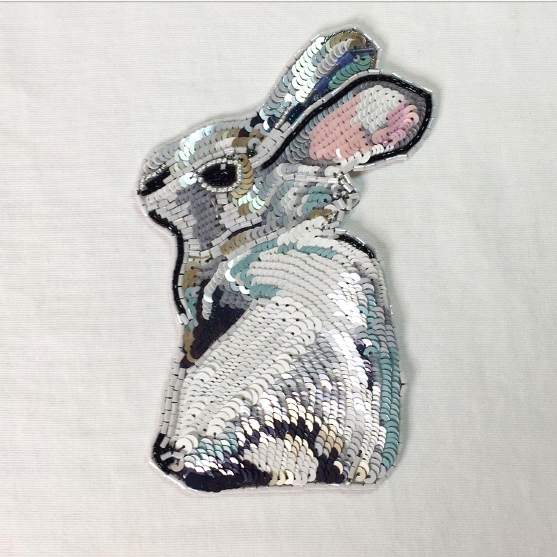 Люневильская вышивка «ЗАЙКА»,Аппликация из пайеток на одежду, Аппликации, Сочи,  Фото №1