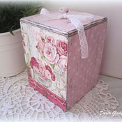 "Для дома и интерьера manualidades. Livemaster - hecho a mano Box ""Shabby rose"". Handmade."
