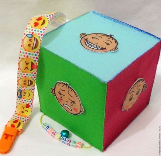 Развивающие игрушки ручной работы. Ярмарка Мастеров - ручная работа. Купить Развивающий кубик Эмоции. Handmade. Развивающий кубик, развивайка
