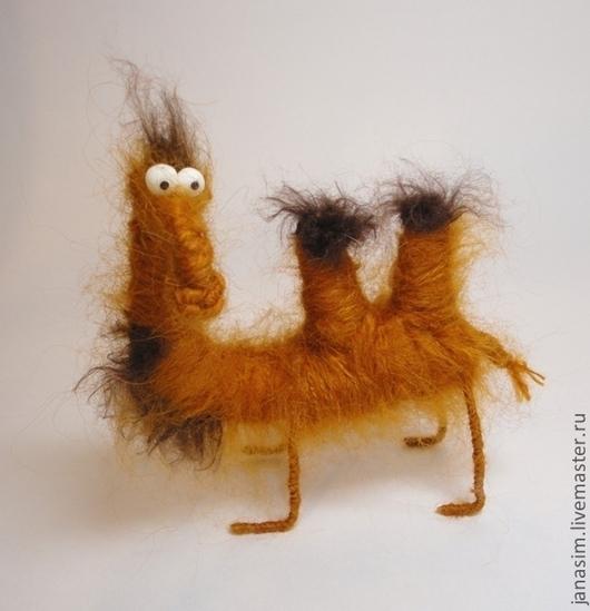 Игрушки животные, ручной работы. Ярмарка Мастеров - ручная работа. Купить Верблюд. Handmade. Рыжий, сувенир, пряжа