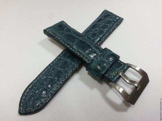Пояса, ремни ручной работы. Ярмарка Мастеров - ручная работа. Купить Ремень для часов из крокодила. Handmade. Ремень для часов