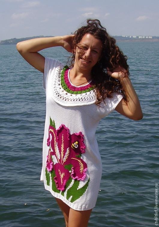 вязаное платье, вязаная туника